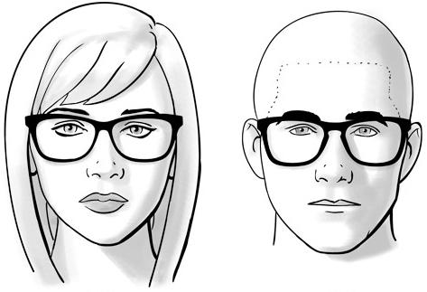 scarpe sportive 8a250 54080 Guida alla scelta degli occhiali per ogni tipo di viso ...